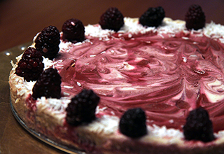 Raw Lemon Blackberry Cheesecake