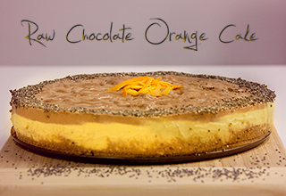 Raw chocolate orange cake