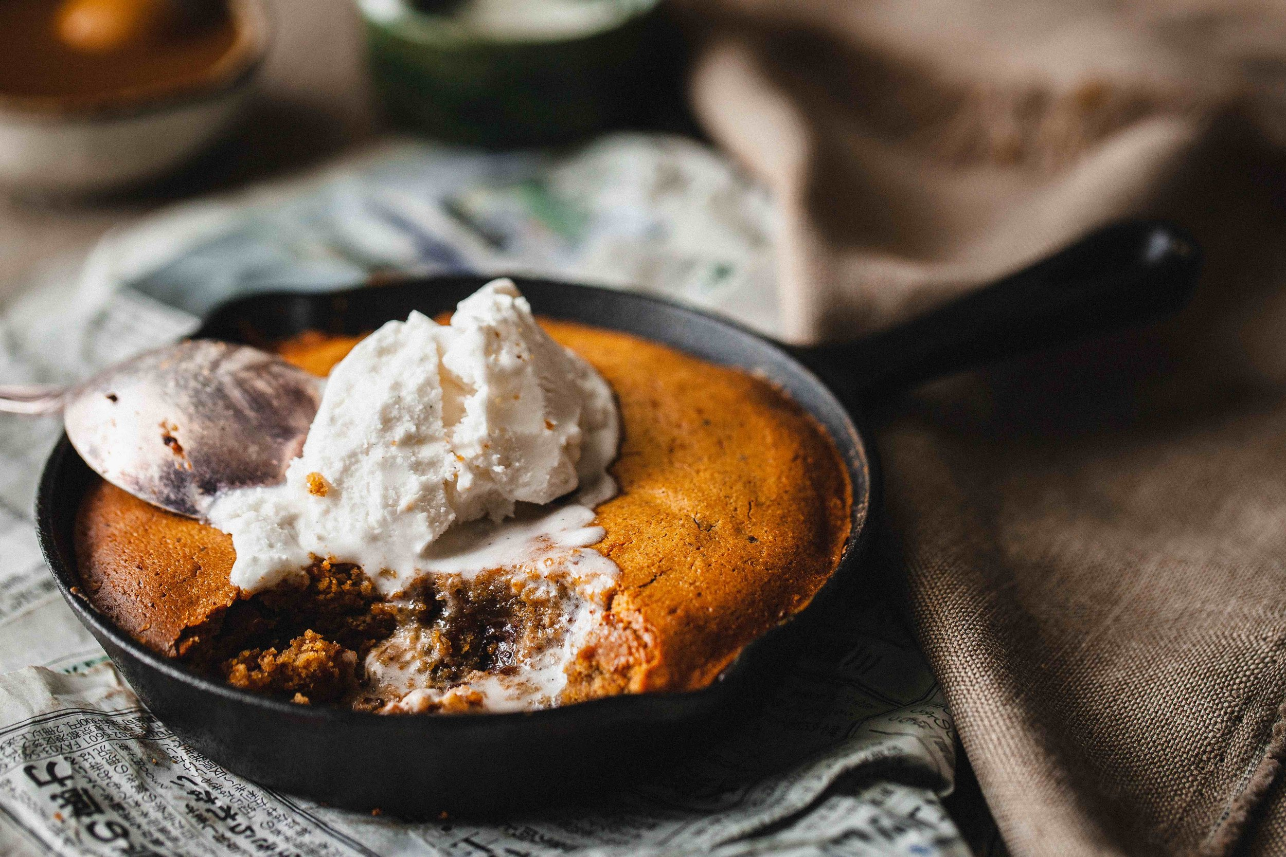 Almond Butter Skillet Cookie